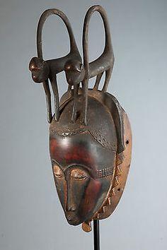 African Yaure monkey Baule mask from Cote D'Ivoire via joburger63