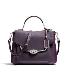 madison small sadie flap satchel in spectator saffiano leather