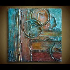 Pintura abstracta original del arte abstracto por ThePurseDoctor
