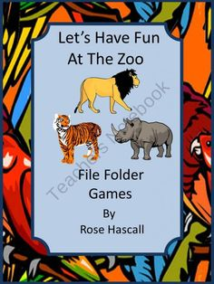 Lets Have Fun At The Zoo File Folder Games for Pre-K,K and Special Education-Children of all ages love going to the zoo. You can bring the zoo to them with this Let's Have Fun At The Zoo File Folder Games packet. Preschool Kindergarten, Preschool Worksheets, Toddler Preschool, File Folder Activities, File Folder Games, File Folders, Spring Activities, Math Activities, Holiday Activities