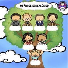 mi arbol genealogico para rellenar                                                                                                                                                                                 Más Childhood Education, Kids Education, Spanish Family Tree, Brownies Activities, Family Tree With Pictures, Notebook Cover Design, Educational Crafts, School Colors, First Day Of School