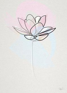 One line lotus by quibe lotus line drawing botanical flowers white black juniqe see more designs at juniqe co uk Art Lotus, Lotus Kunst, Lotus Flower Art, Watercolor Flower, Line Flower, Watercolor Lotus Tattoo, Line Art Flowers, Tattoo Floral, Lotus Tattoo