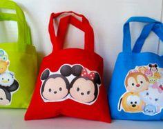 12PC Disney Tsum Tsum Goody Bags Birthday Party Fun Favors Gift Bags Set