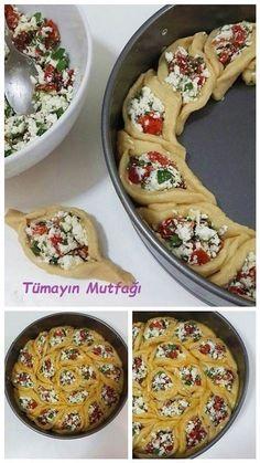 Geht super  mit Pizzateig Schinken  Käse  Tomaten