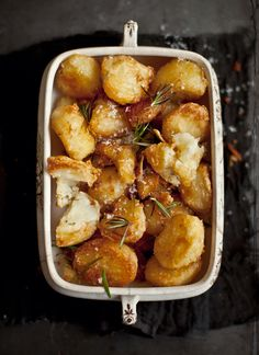 Salted Rosemary Roast Potatos