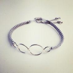 Macramé and sterling silver bracelet. Sterling Silver Bracelets, Jewelry, Jewlery, Bijoux, Schmuck, Jewerly, Jewels, Jewelery, Fine Jewelry