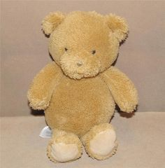 """Carters Precious Firsts Tan Brown Teddy Bear Plush Stuffed Baby 8"""" Toy 63208 #Carters"""