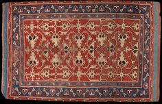 Carpet Lotto design Date: 1500-1600 (made) Place: Turkey   Western Turkey, probably Ushak  Height: 181.5 cm, Width: 116.5 cm Museum number: T.348-1920