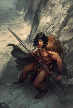 Phroilan Gardner's great cover illustration for 'Conan the Slayer' No.9
