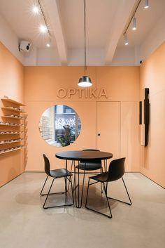 Eyewear Shop, Showroom Interior Design, Bratislava, Architecture Design, Conference Room, Table, Furniture, Home Decor, Architecture Layout