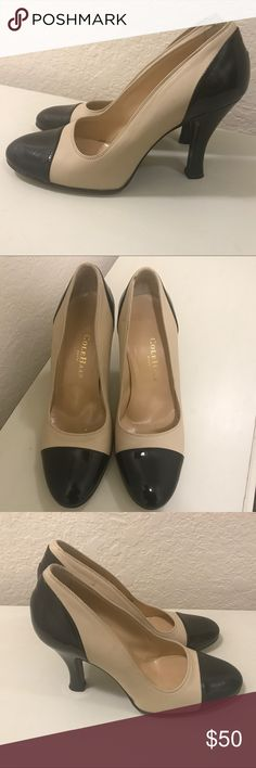 Cole Haan beige and black heels size 7 Pre owned and gently used  Worn only twice  Cole Haan beige with Black patent leather heels  Size 7  In great condition  See photos for details Cole Haan Shoes Heels
