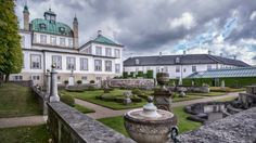 The Danish royal couple's private garden at Fredensborg Palace