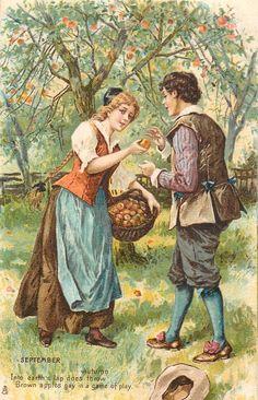 SEPTEMBER  picking apples |                        Wendy Schultz - Printables.