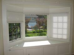outside mount blinds bay window - Google Search