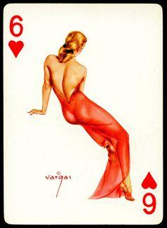 Vargas Pin Ups ~ Six of Hearts by cigcardpix, via Flickr