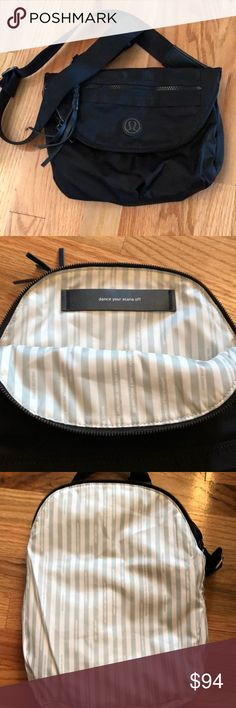 Lululemon black festival bag 🌈 Excellent used condition. Very very light wear, no spots to note. Smoke/pet free home lululemon athletica Bags Crossbody Bags