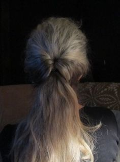 pony tail flip thru ~ wow, I wear my hair like this at least once a week ... so quick & easy