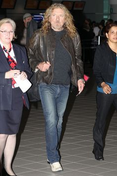 Rock Legend Robert Plant arriving at Toronto's Pearson International Airport to depart after a day of promoting his New Solo Album; Band of Joy.