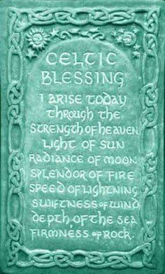 Celtic Morning Blessing Plaque by Midnight Moon. Art for home and garden created in the Celtic Tradition by Ann and Jon Maglinte.