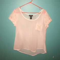 Wet seal lace shirt 100% polyester with lace fabric Wet Seal Tops Blouses