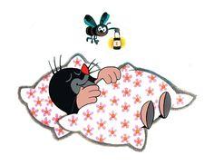 (2017-01) Muldvarpen sover med blomsterdyne på Pin Logo, Childhood Friends, Teaching Kindergarten, Woodland Creatures, Cross Stitch Kits, Children's Book Illustration, Mole, Good Night, Childrens Books