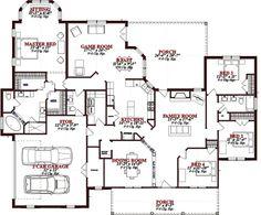 Southern Style House Plan   5 Beds 3.00 Baths 2740 Sq/Ft Plan #63 164