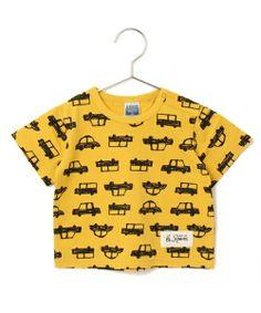 b-room (ビールーム)の車総柄半袖Tシャツ(Tシャツ・カットソー)|マスタード
