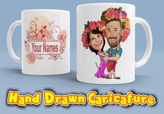 Wedding Gift Engagement Gift Personalized by DoodlykCaricature