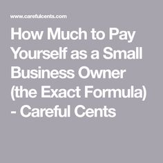 How Much to Pay Yourself as a Small Business Owner (the Exact Formula) - Careful Cents CALCULATE BUSINESS PROFIT Profit (or loss) = total revenue – business expenses Taxes = of profit Reinvest back into business = of profit My paycheck = of profit Small Business Bookkeeping, Small Business Accounting, Business Money, Business Signs, Business Advice, Business Entrepreneur, Business Marketing, Start Small Business, Media Marketing