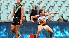 2012 round 22 Dayne Zorko celebrates a goal for Brisbane Lions (photo: Sarah Reed for News Limited via The Australian)