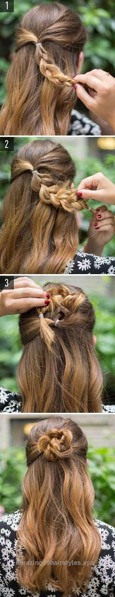 Superb 40 Easy Hairstyles for Schools to Try in 2017. Quick, Easy, Cute and Simple Step By Step Girls and Teens Hairstyles for Back to School. Great For Medium Hair, Short, Curly, Messy or Form ..