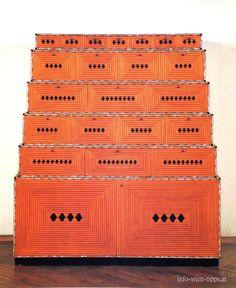 Josef Hoffmann, Kabinettschrank, 1910-1914, chest of drawers
