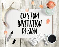 Custom Invitation Design  Custom Wedding by MaddieMaeCreative