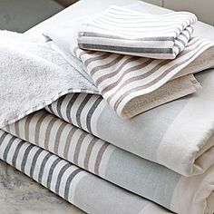 Fouta Bath Towels – Dove Grey | Serena & Lily