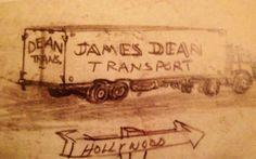 James Dean's High School Drawing - james-dean Photo