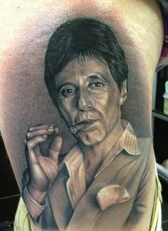 Tony Montana x Scarface tattoo.