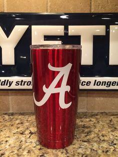 YETI Rambler Tumbler 20oz Alabama Crimson Tide-Powder Coated