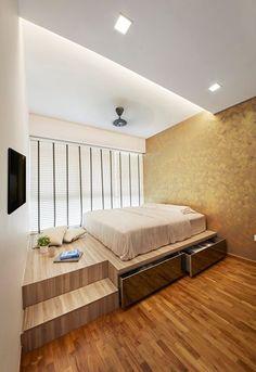 Ideas home renovation singapore spaces – magic-toptrendpin. Small Room Interior, Condo Interior Design, Small Apartment Interior, Interior Design Singapore, Apartment Design, Design Interiors, Loft Design, House Design, Studio Apartment Furniture