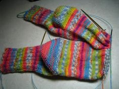 darling socks!  I knit allllll of my socks.  They are great with Birkenstocks and so warm and snuggly on our winter nights.