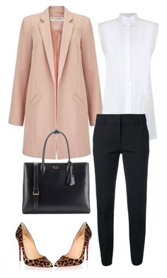 """Non-Boring Work Outfit 11"" by onyxbertha on Polyvore featuring Christian Louboutin, Miss Selfridge, Helmut Lang, Piazza Sempione and Prada"