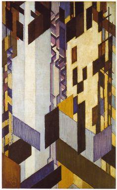 Verticale en diagonale vlakken ~ Olieverf op doek ~ 55,2 x 38,1 cm. ~ The Museum of Modern Art, New York ~ The Riklis Collection ~ © 2015 Artists Rights Society (ARS), New York / ADAGP, Paris