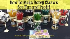 How to make honey straws for fun and profit. easy to follow step instructions. Great for gifts, parties, holidays and to sell for profit.