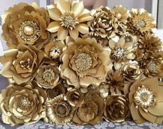 Papier Blume Wand benutzerdefinierte und auf von PaperstoPetals