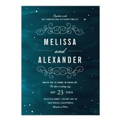 Stargazer Wedding Invitation  Click on photo to purchase. Check out all current coupon offers and save! http://www.zazzle.com/coupons?rf=238785193994622463&tc=pin
