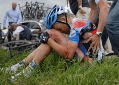 Tom Danielson-American badass who didn't stop riding in the TDF until he separated his SECOND shoulder in 2012.