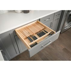 """$86.63 · You'll love the Knife 2.38""""H x 18.5""""W x 22""""D Drawer Organizer at Wayfair - Great Deals on all Storage & Organization products with Free Shipping on most stuff, even the big stuff. #kitchendrawers #diykitchendrawer"""