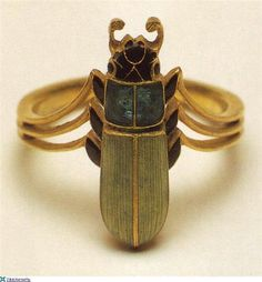 Scarab beetle ring, Lalique