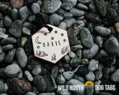 Perfect for the adventure dog or cat in your life. Fully customizable and available in copper, gold or aluminum and in several shapes like circle tags, hexagon tags, dog tags and hanging bar tags. Wild North, Dog Water Bowls, Old Towels, Pet Tags, Collar And Leash, Dog Friends, Small Dogs, Dog Love