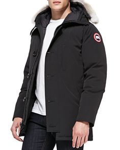 Chateau Arctic-Tech Parka with Fur Hood, Black - Canada Goose