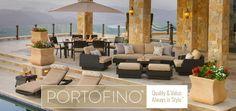 Portofino Comfort™ Espresso & Beige 3-piece Chaise Lounge Set